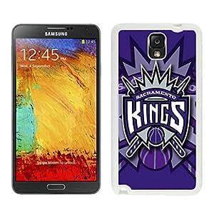 New Custom Design Cover Case For Samsung Galaxy Note 3 N900A N900V N900P N900T Sacramento Kings 1 White Phone Case