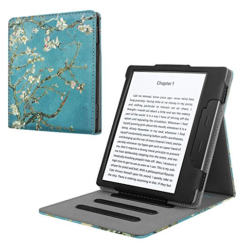 Fintie Flip Case for All-new Kindle Oasis (10th Generation, 2019 Release & 9th Generation, 2017 Release) - Multi-angle [Hands Free] Viewing Stand Cover with Auto Sleep/Wake, Blossom