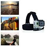 Navitech Helmet/Headband/Head Strap Mount Compatible with The Accfly 4K Sport Action Camera 12MP WiFi UHD Cam