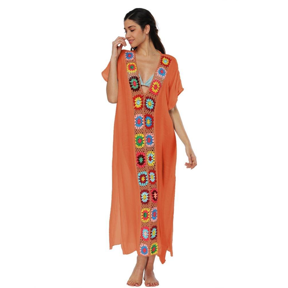❤️Faldas, Challeng Juegos de baño, bikinis, vestidos de ganchillo, vestidos de playa, vestidos de playa, vestidos de algodón (Púrpura): Amazon.es: Belleza