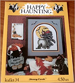 STONEY CREEK Cross Stitch Pattern Leaflet HAPPY HALLOWEEN MOON