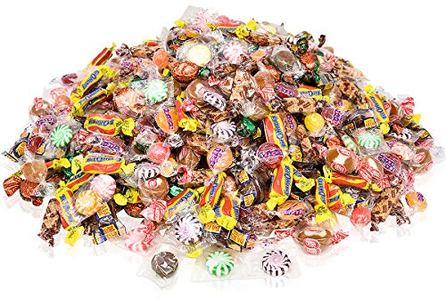 (Assorted Candy Bulk Party Mix, Hard Candy individually Wrapped Bulk Candy! 5 Pounds of Peppermint Candy, Cinnamon Candy, Butterscotch Hard Candy, Chocolate Candy, Strawberry Candy, Ginger Candy...)