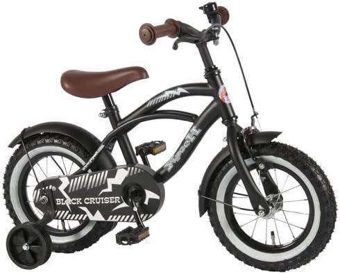 Bicicleta niño de 12 pulgadas 3 4 4,5 Años ruedas extraíbles Negro ...