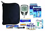 Contour Next Diabetes Testing Kit - Contour Next Ez Meter, 100 Bayer Contour Next Test Strips, 100 30g Slight Touch Lancets, 1 Slight Touch Lancing Device, 100 Slight Touch Alcohol Prep Pads