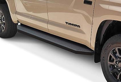 APS iBoard Running Boards 5 Matte Black Custom Fit 2007-2019 Toyota Tundra CrewMax Pickup 4-Door Nerf Bars   Side Steps   Side Bars