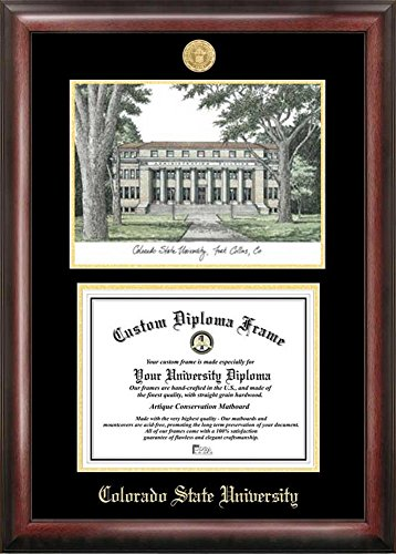 Colorado State Rams Diploma Frame with Limited Edition Lithograph by Landmark Publishing