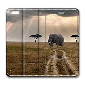 African Elephant Sakuraelieechyan Premium Leather Cover Case for iPhone 6 Plus (5.5 inch) by ruishername