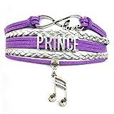 DOLON Infinity Love Prince Bracelet Memorabilia Collectible Music Charm Prince Fans Gift