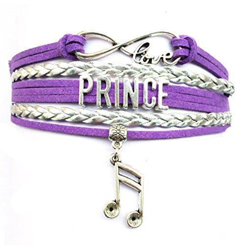 DOLON Infinity Love Prince Bracelet Memorabilia Collectible Music Charm Prince Fans Gift