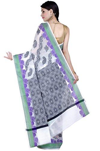 Chandrakala Women's White Supernet Cotton Banarasi Saree(1278WHI) by Chandrakala (Image #2)