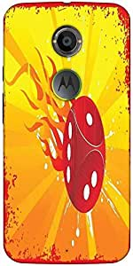 Snoogg Abstract Grunge Frame Of Vector Dice Designer Protective Back Case Cov...