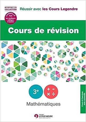 Téléchargement gratuit ebook pdf Cours de révision Mathématiques 3e : Leçon et exercices FB2 2915226806