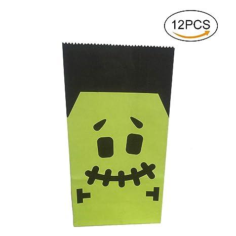 Hosaire 12 Piezas Bolsas de Papel Halloween empaqueta Las ...