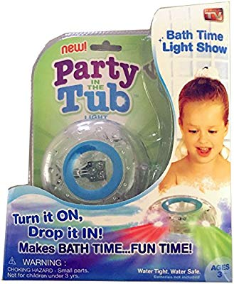 PARTY IN THE TUB TOY BATH WATER LED LIGHT KIDS WATERPROOF CHILDREN DISCO TOYS UK