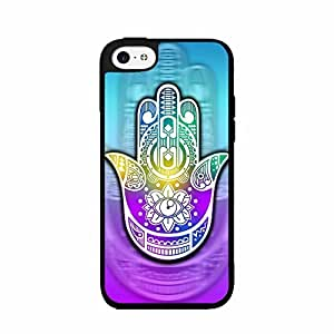 Colorful Tribal Print Hamsa Plastic Phone Case Back Cover iPhone 5c