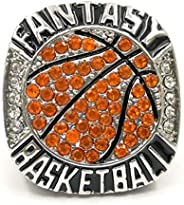 Fantasy Basketball League Champion Championship Rings Trophy Prize No Years