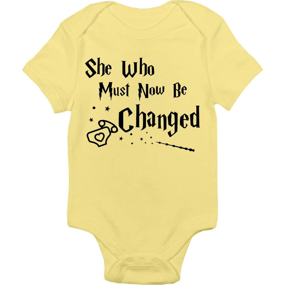 Harry Potter Bodysuit - She Who Must Now Be Changed - Handmade Baby Cloths For Boys And Girls - Baby Shower Gift Idea