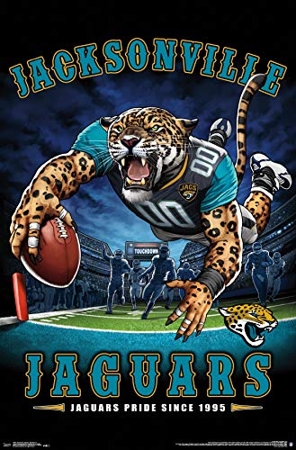 Trends International Jacksonville Jaguars-End Zone Mount Bundle Wall Poster, 22.375