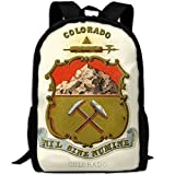 ZQBAAD Colorado State Coat Of Arms Luxury Print Men And Women's Travel Knapsack