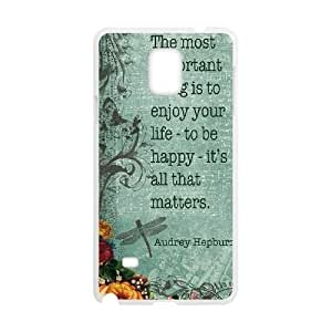 Custom Colorful Case for Samsung Galaxy Note 4, Audrey Hepburn Quotes Cover Case - HL-538792