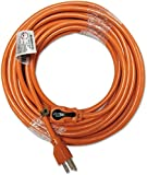 Best INNOVERA extension cord - Innovera Indoor Extension Cord, Locking Plug, 50ft, Orange Review