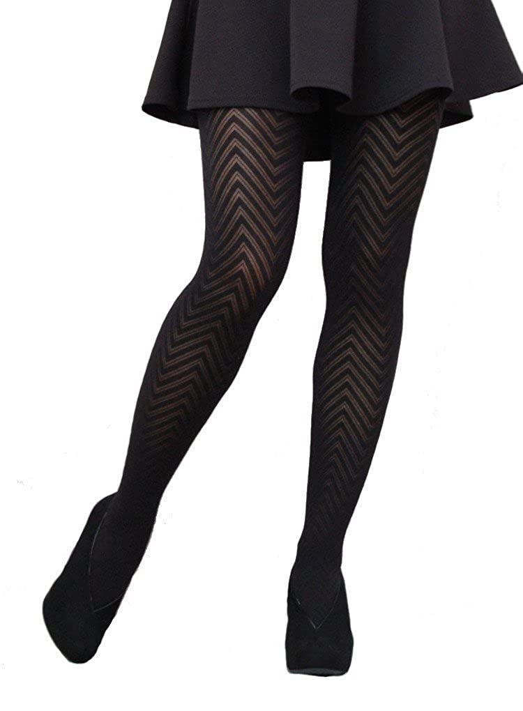 a3a53c388ed Cecilia de Rafael Espigat Patterned Tights - Hosiery Outlet at Amazon  Women s Clothing store
