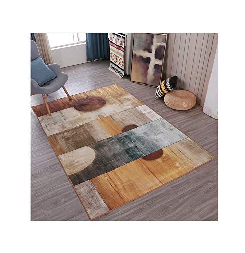 (GQSC Modern Minimalist Living Room Carpet,Geometric Pattern Coffee Table Bedroom Children Crawling Mat Rug,Household Polyester Rectangular Hand Wash Floor Rug Modern Minimal)