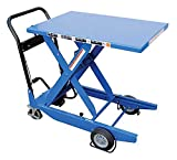 Lift Table Cart - BCART-S-FR Series; Scissor Type: Single; Lowering Method: Hand; Platform Size (W x L): 23-5/8'' x 35-7/16''; Raised Height: 36-3/8''; Lowered Height: 13-1/8''; Capacity (LBS): 300