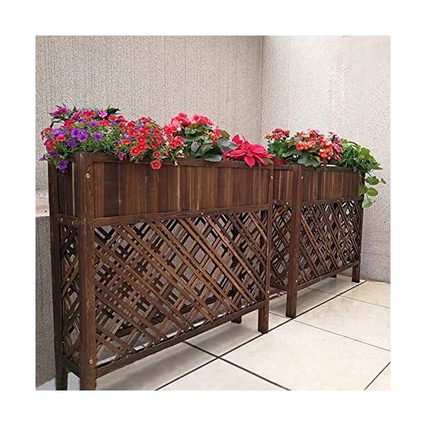 HEMFV Outdoor Patio in Legno rialzata Garden Bed Elevato Planter Box Fiore 2 spesavip