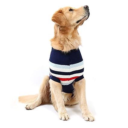 Jizhen Ropa de Invierno para Mascotas, Perro Mascota, Prendas de Punto clásicas, suéter