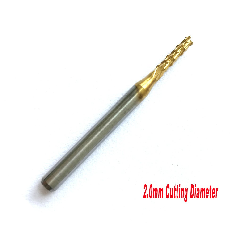 CNC Cutting Bits JERRAY 5pcs//lot 1.0-3.0mm with 1//8 shank,solid Carbide wtih TiN Coat PCB Carbide Tools Millinging Cutters Engraving,pcb end mills JERRAY TOOLS