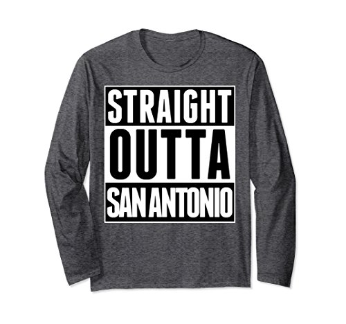 Unisex Straight Outta San Antonio Texas United States America Shirt 2XL Dark - Culture Love San Antonio