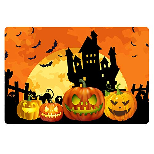 Instantarts Haunted House Perfect for Halloween Doormats Dinner Parties and Scary Movie Nights ()