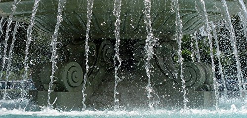 Home Comforts LAMINATED POSTER Fountain Outside Water Fountain Water Falling Water Poster Print 24x16 Adhesive Decal by Home Comforts