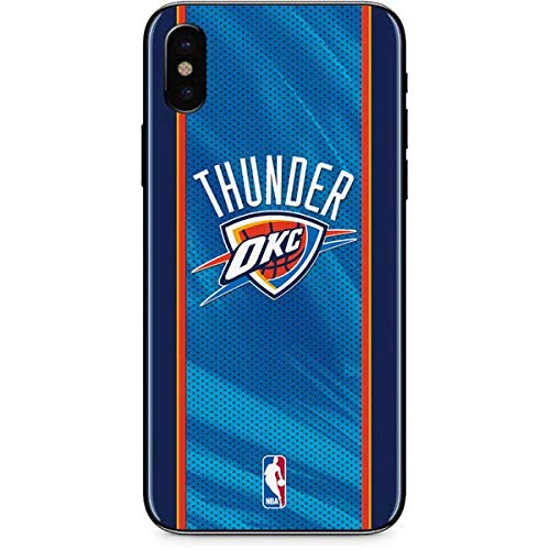 Skinit Oklahoma City Thunder Blue Jersey iPhone Xs Max Skin - Officially Licensed NBA Phone Decal - Ultra Thin, Lightweight Vinyl Decal Protection ()