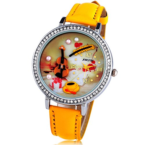 Korean fashion stereo students watch/Tide3DHandmade fashion watches/Cartoon water diamonds and English-A