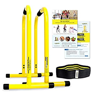 Well-Being-Matters 51KDwtHX27L._SS300_ Lebert Fitness Dip Bar Stand - Original Equalizer Total Body Strengthener Pull Up Bar Home Gym Exercise Equipment…