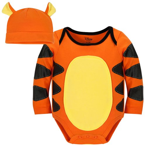 Disney Store Tigger Costume Onesie Bodysuit with Matching Hat Size 12-18 Months ()