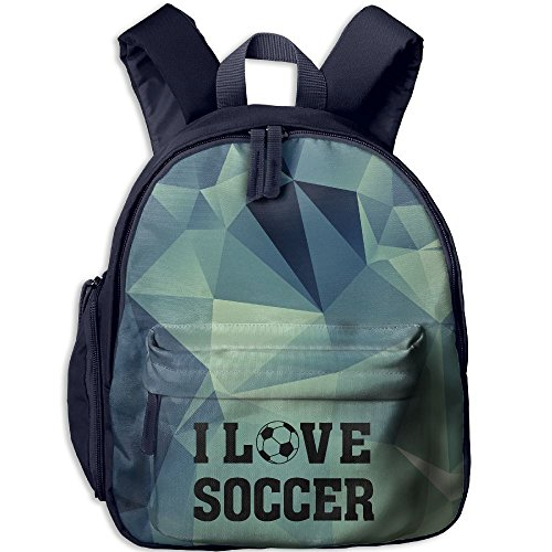 Custom Made Iron Man Suit (Toddler Kids I Love Soccer Preschool Backpack School Bag Navy)
