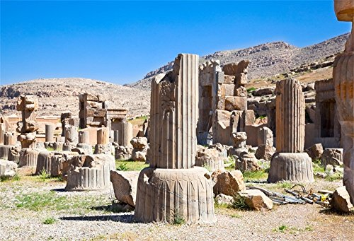 fan products of OFILA Ancient Persepolis Ruins Backdrop 7x5ft Photography Background Iran Old Building Stone Pillars World Cultural Heritage Interior Decoration Research Video Studio Props