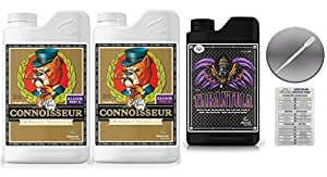 Advanced Nutrients Connoisseur Coco Bloom A & B Liter 4 Liter & Tarantula 1 Liter Bundle with Twin Canaries Conversion Chart and 3mL Pipette