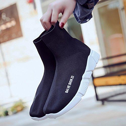Deportivas Negro Zapatos de Mujer Gimnasia Transpirables Zapatos Casuales al Zapatillas para Aire Libre pqCwggHxd