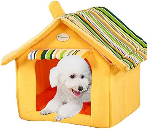 Saymequeen Puppy Cat Indoor Cave Sweet House Bed Dog Play Room Bed