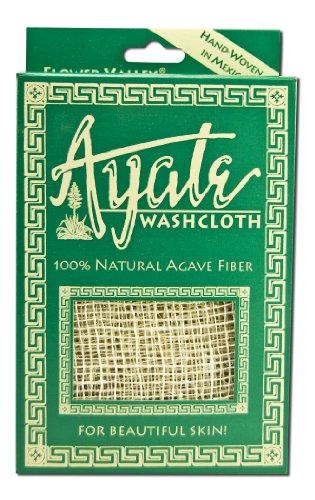 (Ayate Washcloth, 100% Natural Agave Fiber, 1 washcloth)