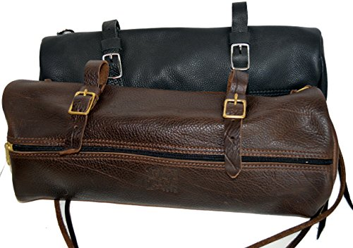 Olde Time Leather Cantle Bag (Brown/Chrome)