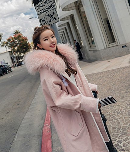 Cotton And Jacket Long Collar Of Jacket Autumn The Women Clothing Collar Cotton Cotton Jacket Large Seasoned Winter Plus Pink Leather Section Xuanku In Ap7YqTT