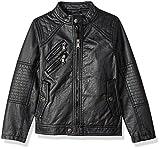 Urban Republic Big Boys' Ur Faux Leather Jacket, Black 6359B, 14/16