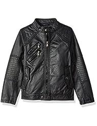 Urban Republic Big Boys\' Ur Faux Leather Jacket, Black 6359B...