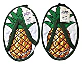AJ&W Co. Hawaii Style Hard Floor Cleaning Slippers - FLOOR BUDDY - PINEAPPLE - 1 Pair