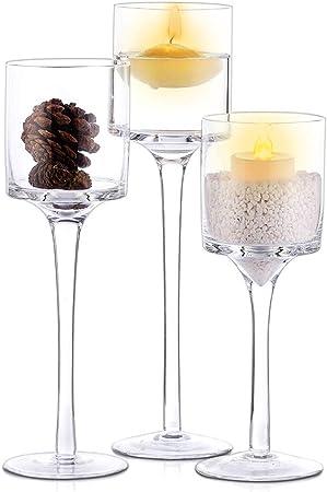 Romantic Wedding Party Pillar Candle Holder Tealight Votive Table Candlestick UK